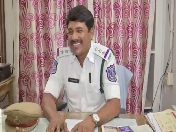 Telangana traffic police official A Nagamallu. Photo/ANI