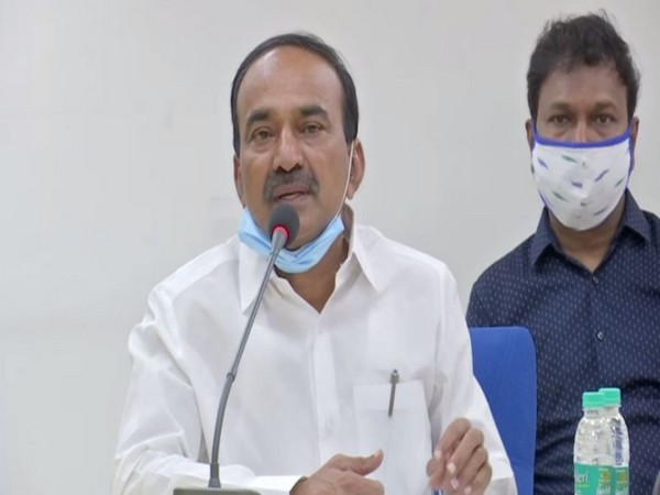 Health Minister Eatala Rajendra addressing a press conference in Hyderabad on Monday.