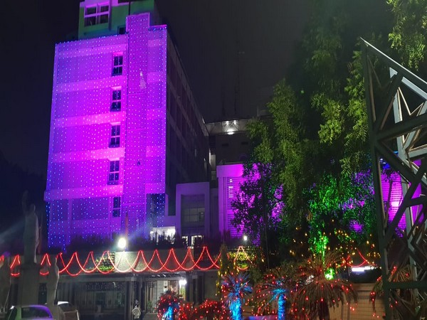Buildings decked up with flowers and lights ahead of Telangana State Formation Day celebration