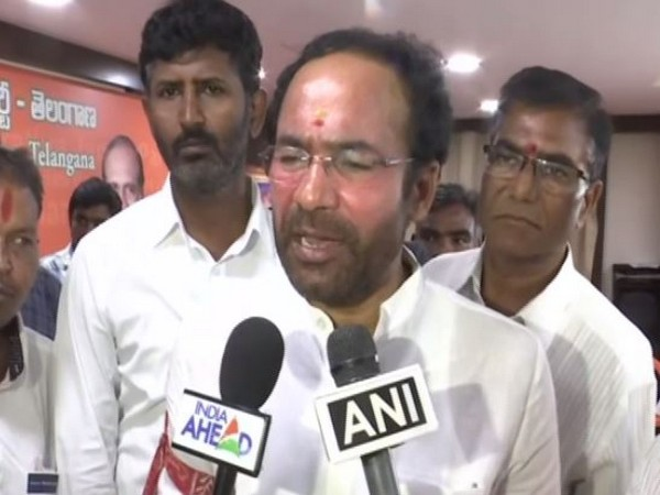 Minister of State for Home Affairs, G. Kishan Reddy while speaking to ANI on Sunday. (Photo/ANI)
