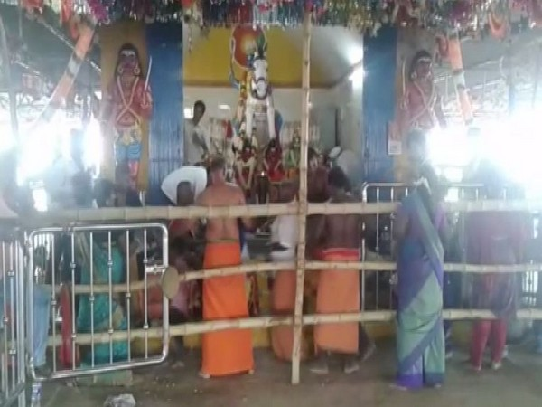 Karuppasami temple in Tamil Nadu's Trichy district. Photo/ANI