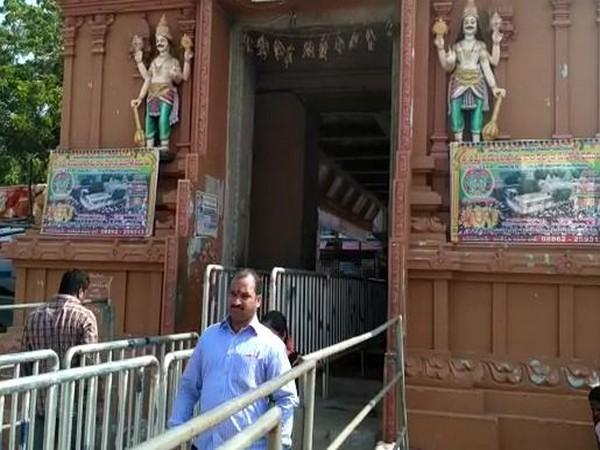 Devotees visiting the Sri Lakshmi Narasimha Swamy Temple in Andhra Pradesh's East Godavari district (Photo:ANI)