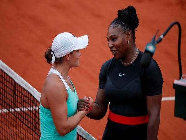 Ashleigh Barty and Serena Williams