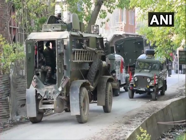 Visual from encounter site in Shopian.
