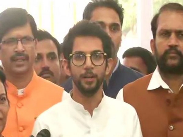 Aaditya Thackeray speaking to media persons in New Delhi on Wednesday