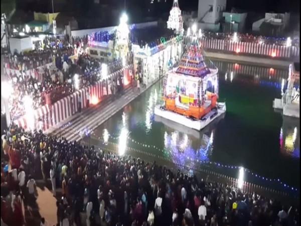 Thaipoosam festival celebrated at Lakshmana Theertham in Rameswaram last night