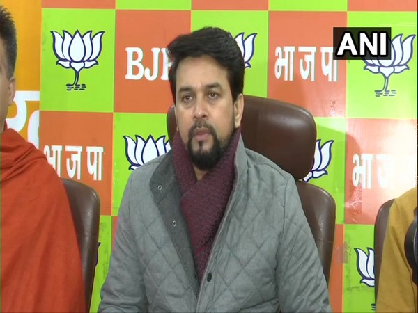 Anurag Thakur addressing a press conference in Jammu on Wednesday.