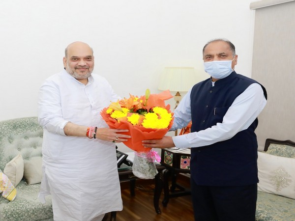 Himachal Pradesh Chief Minister Jai Ram Thakur called on Union Home Minister Amit Shah in the national capital on Sunday.