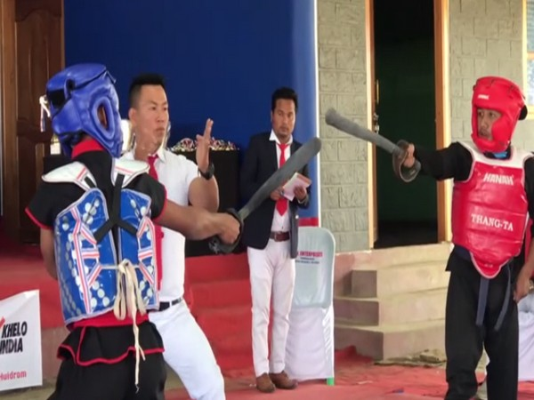 Thang-Ta, an an indigenous martial arts game from Manipur. (Photo/ ANI)