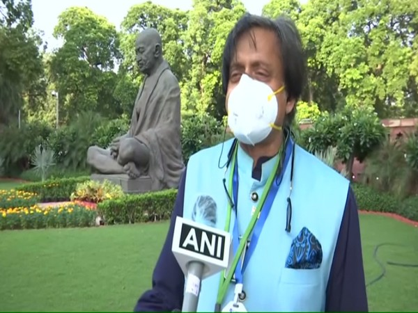Congress MP Shashi Tharoor speaking to ANI in New Delhi on Friday. (Photo/ANI)