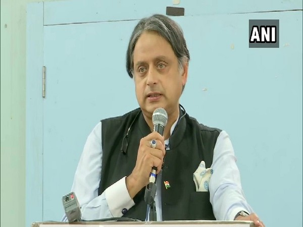 Congress MP Shashi Tharoor speaking at an event in Pune, Maharashtra on Sunday.