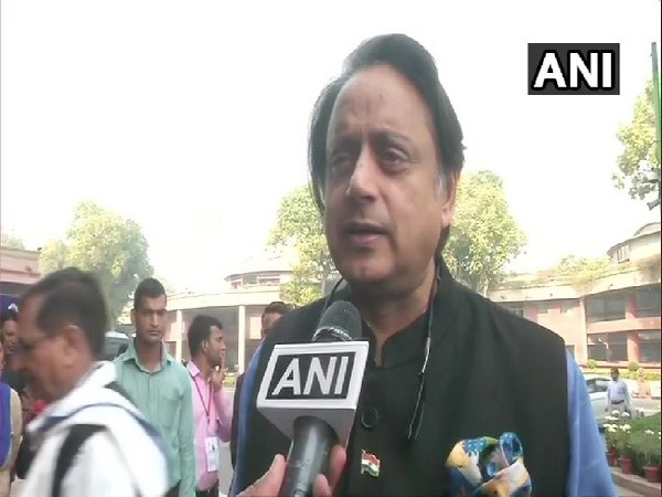 Congress MP Shashi Tharoor speaking to ANI in New Delhi on Thursday.