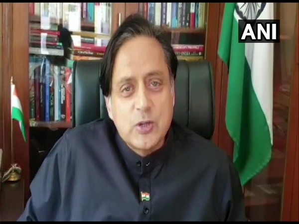 Congress MP Shashi Tharoor speaking to ANI in New Delhi on Friday.