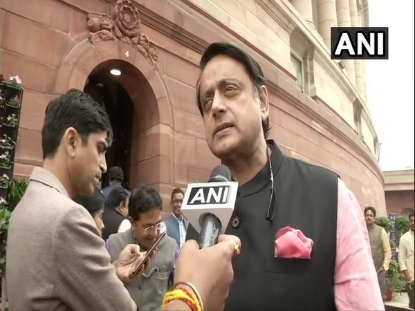 Congress MP Shashi Tharoor talking to ANI at Parliament on Thursday