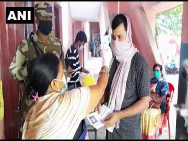 Visual from a polling station in Arrah, Bihar. [Photo/ANI]
