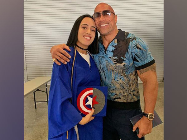 Dwayne Johnson with daughter Simone at her high school graduation ceremony, Image courtesy: Instagram