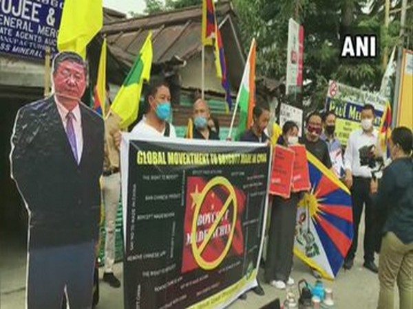 Tibetan Youth Congress stages a protest in Mcleodganj, Dharamshala.