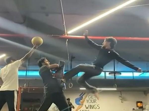 Tiger Shroff practicing flying kick (Image Source: Instagram)