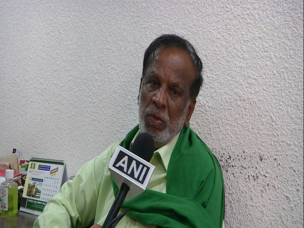 Convener of south Indian states farmer's movement KT Gangadhar speaking to ANI on Thursday. (Photo/ANI)
