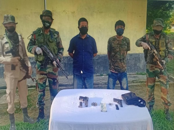 The apprehended cadres have been identified as SS Lt Col Rampong Hakhun Johny and SS Sgt Kochung Sankey.