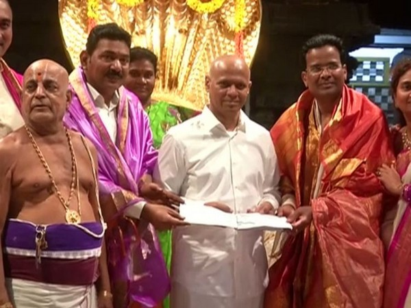 Two NRI businessmen from the USA on Friday donated Rs 14 crores to Lord Balaji,