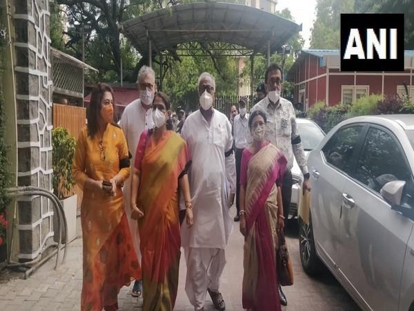 TMC delegation reaches to EC in Delhi on Friday. (Photo/ANI)