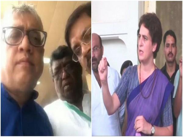 Members of TMC delegation stopped at airport (left), Congress leader Priyanka Gandhi Vadra