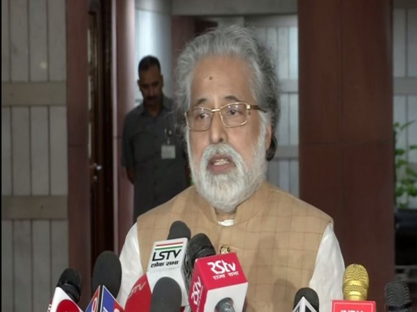 TMC Lok Sabha MP Sudip Bandyopadhyay speaking to reporters in New Delhi on Saturday after the all-party meeting. Photo/ANI