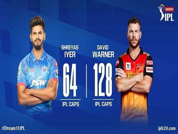 Delhi Capitals' skipper Shreyas Iyer and SRH captain David Warner (Image: Indian Premier League's Twitter )