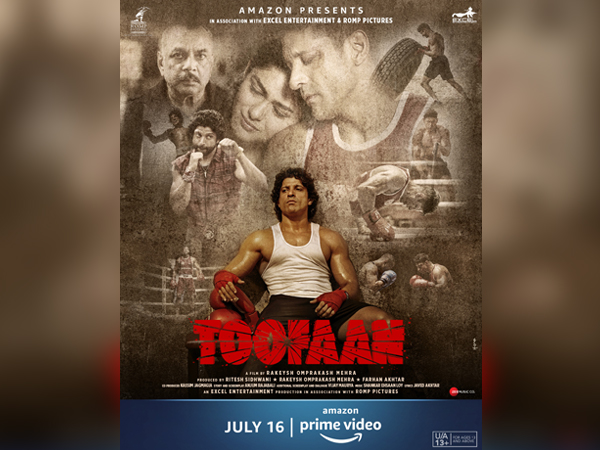 Poster of 'Toofaan' featuring Farhan Akhtar (Image source: Instagram)