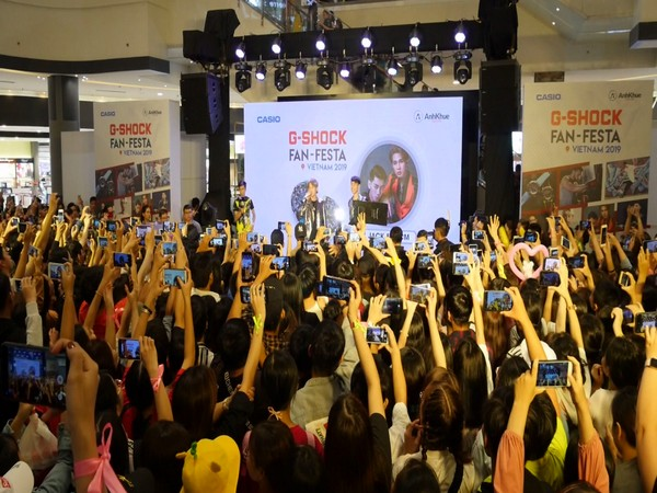 A view of the event organised by Casio, a multinational consumer electronics company.