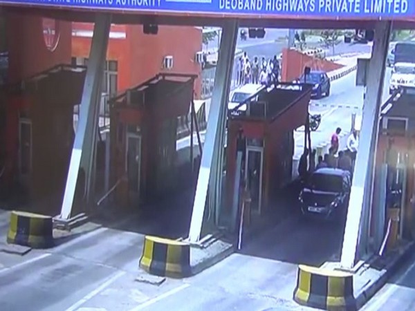 CCTV grab of the incident at toll plaza