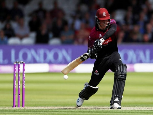 Tom Banton in action against Hampshire