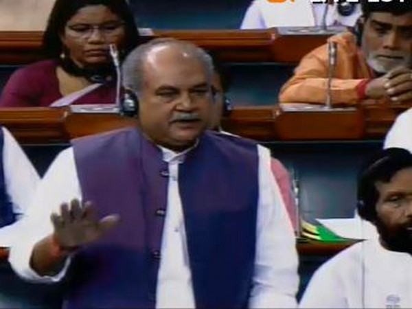 Minister of Agriculture and Farmers Welfare, Narendra Singh Tomar (Source:LSTV)
