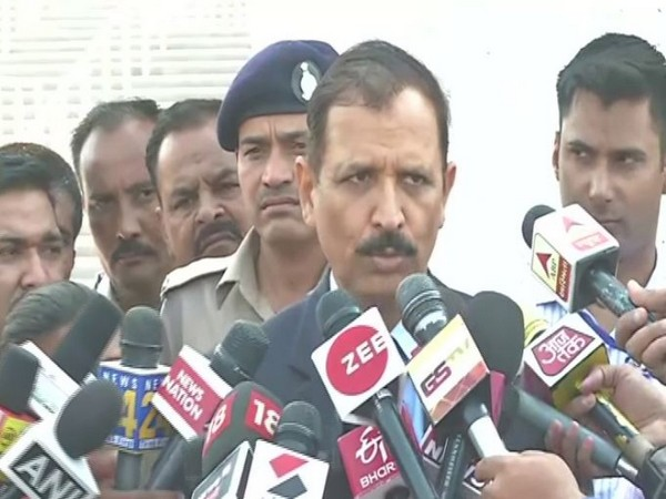 Ahmedabad Crime Branch Special CP Ajay Tommar speaks to media on Friday [Photo/ANI]