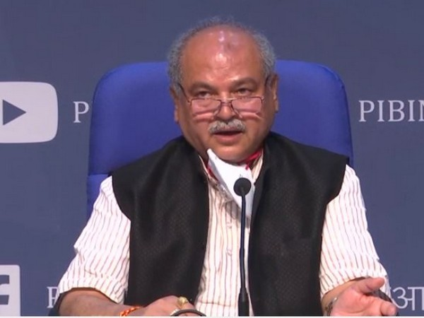 Union Minister of Agriculture and Farmer Welfare, Narendra Singh Tomar during cabinet briefing in New Delhi on Wednesday.