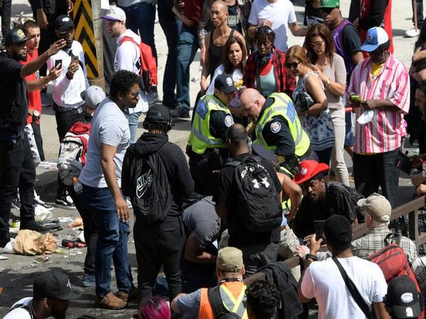 The incident occurred near Nathan Phillips Square, where huge crowds had gathered to celebrate Toronto Raptors' victory