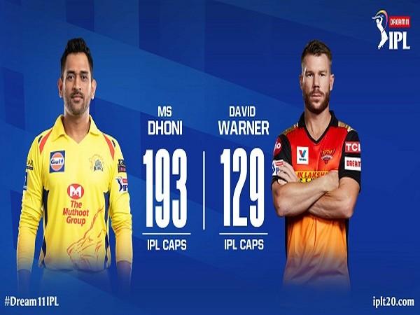 CSK captain MS Dhoni and SRH skipper David Warner(Image: Indian Premier League's Twitter )