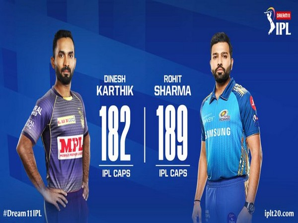KKR skipper Dinesh Karthik and MI captain Rohit Sharma (Image: Indian Premier League's Twitter)
