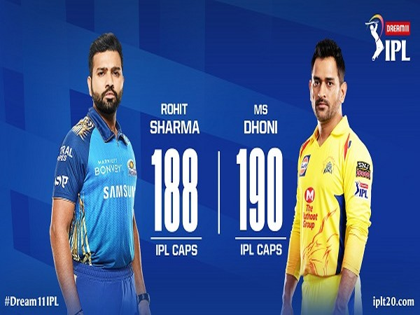 MI skipper Rohit Sharma and CSK captain MS Dhoni (Image: Indian Premier League's Twitter )