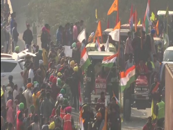 Visuals from farmers' 'tractor rally' on India's Republic Day. (Photo/ANI)