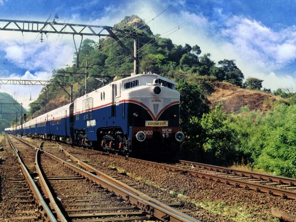 The Deccan Queen chugs along the Monkey Hill Station between Mumbai and Pune.