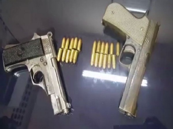 Guwahati police recovered two pistols and 22 live cartridges from Avadh Assam Express on Wednesday. Photo/ANI