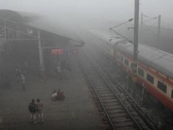 Protest erupts on railway tracks against CAA in Kolkata. Photo/ANI
