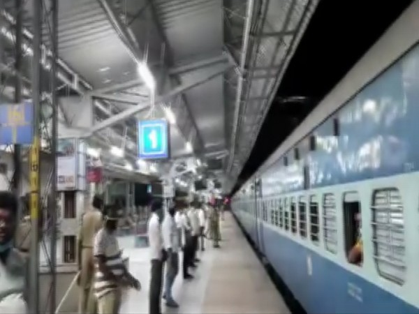 Visual of train in Telangana