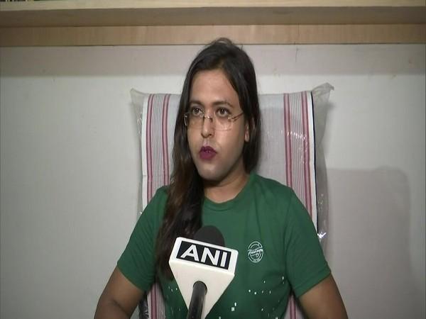 Assam's first transgender judge Swati Bidhan Baruah speaking to ANI on Tuesday. (Photo/ANI)