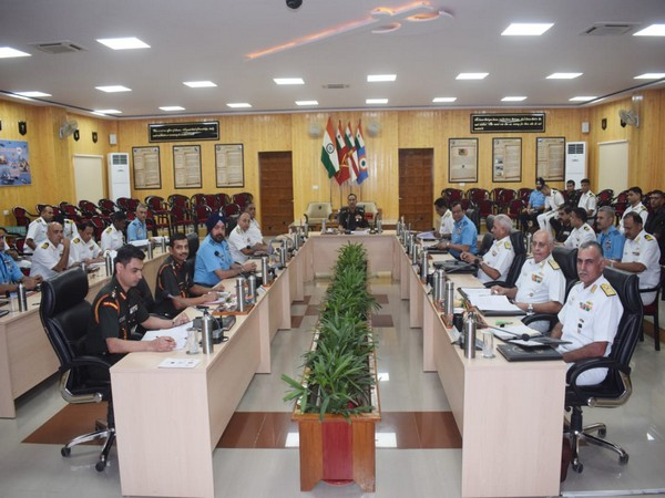 35th Annual Tri-Services Commanders conference began in Jaisalmer on Wednesday (Photo/ANI)