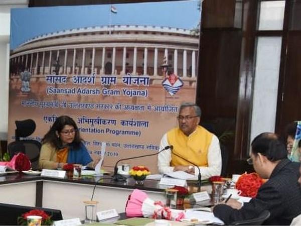 Chief Minister Trivendra Singh Rawat at a meeting in Dehradun.