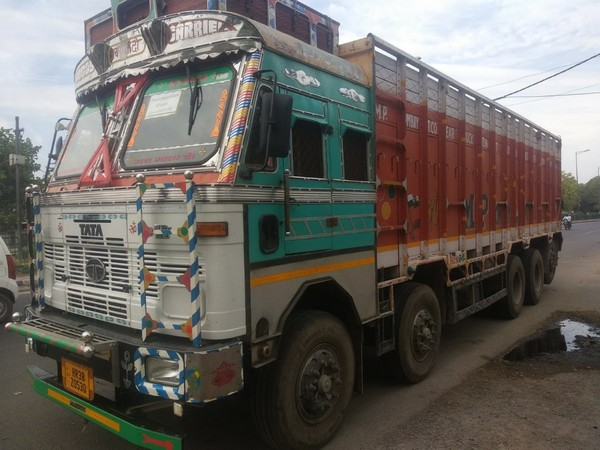 The truck seized by the police Photo/ANI.
