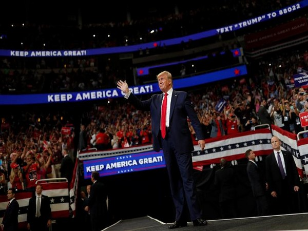 US President Donald Trump announcing his reelection bid at a rally in Florida on Tuesday (Photo/Reuters)